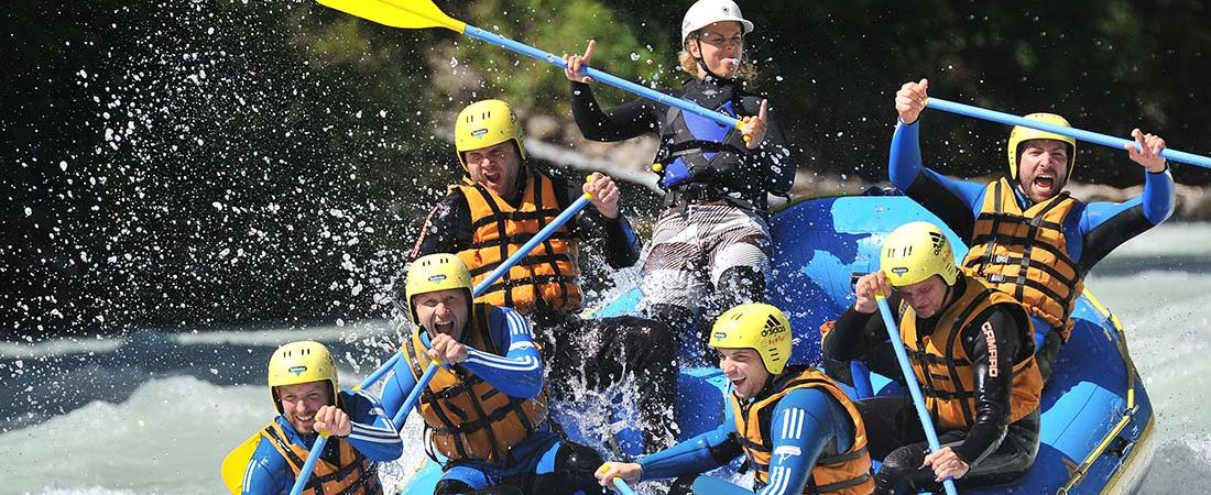 [Translate to English:] Rafting Tirol, Canyoning Ötztal, Adventure Sports faszinatour
